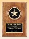 American Walnut Star Plaque Recognition Plaques